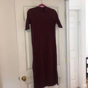 Zara - Maroon Midi Dress w/ open sides